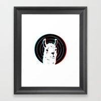 Llamalook Framed Art Print