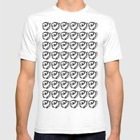 Rows Of Flowers Mens Fitted Tee White SMALL