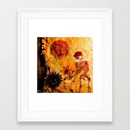 Meeting At Moonlight Framed Art Print