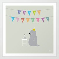 The Happy Birthday Art Print
