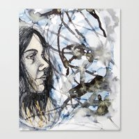 Canvas Print featuring sea self by One Pepinillo