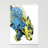 Roaring beast color Stationery Cards