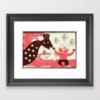 dragon & domador Framed Art Print