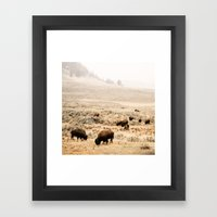 A Snow Storm Blowing In Framed Art Print
