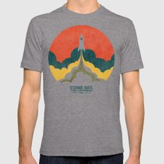 Come See The Universe Mens Fitted Tee Tri-Grey SMALL