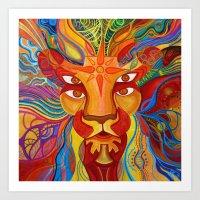 Lion's Visions Art Print