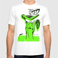 Abstract Woman Mens Fitted Tee White SMALL