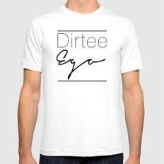 Dirt. SMALL White Mens Fitted Tee