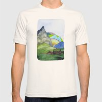 Landscapes / Nr. 6 Mens Fitted Tee Natural SMALL
