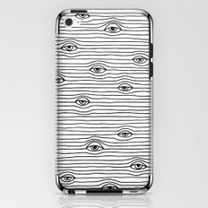 PEEPING TOM [BLK & WHT] iPhone & iPod Skin