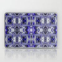 Blue Tribal Glitch Laptop & iPad Skin