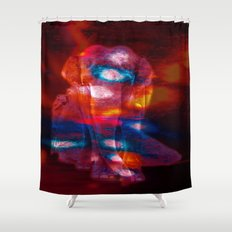 Elephant Colorful Light … Shower Curtain
