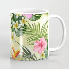 Tropical pattern with flowers Mug