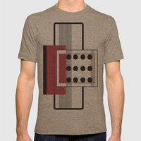 Dominoeffekt Mens Fitted Tee Tri-Coffee SMALL