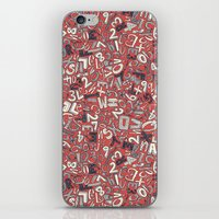 A1B2C3 coral red iPhone & iPod Skin