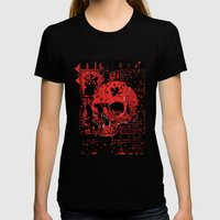 Red Skull 1913 Womens Fitted Tee Black SMALL