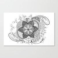 Turn Black And White Canvas Print