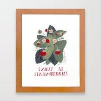 Sweet As Strawberries Framed Art Print