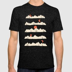 Moonrises...Moonsets... Mens Fitted Tee Tri-Black SMALL