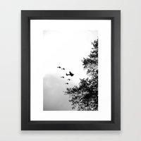 Wartime Salute, black&white Framed Art Print