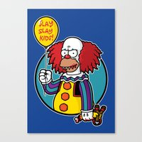 Krustywise the Clown Canvas Print