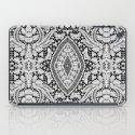 Elegant Black White Floral Lace Damask Pattern iPad Case