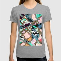 ELECTRIC VIBES Womens Fitted Tee Tri-Grey SMALL