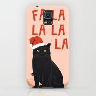 Black Cat Cute Fa La La … Galaxy S5 Slim Case