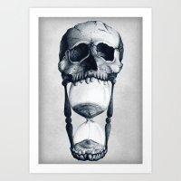 Demise of Time Art Print