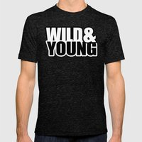 Wild & Young Mens Fitted Tee Tri-Black SMALL