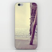 Pier at Sunrise with Glitter iPhone & iPod Skin