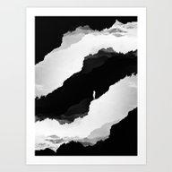 Black Isolation Art Print
