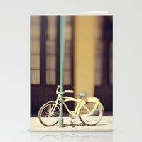 Yellow New Orleans Bicyc… Stationery Cards