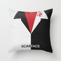 Scarface - Minimal Poste… Throw Pillow