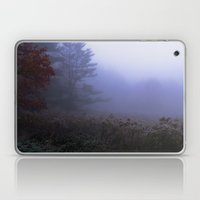 Early morning in a foggy and frosty autumn morning at Sharron Woods Laptop & iPad Skin