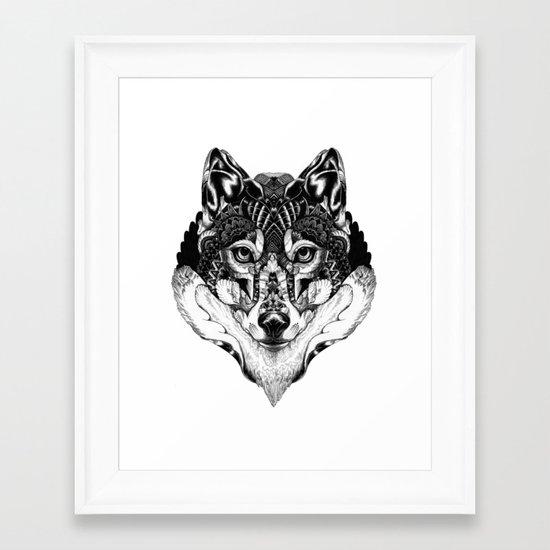 Wolf Head Framed Art Print
