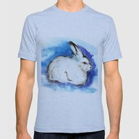 Grumpy Artic Hare Mens Fitted Tee Athletic Blue SMALL