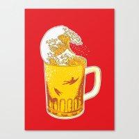 Beer Wave Canvas Print