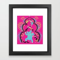 Bollywood tickle Framed Art Print