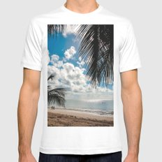 Couple at the beach White SMALL Mens Fitted Tee