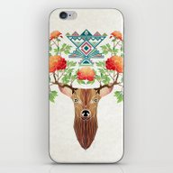 Deer Flowers iPhone & iPod Skin