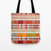 Red Pattern With Dots Tote Bag
