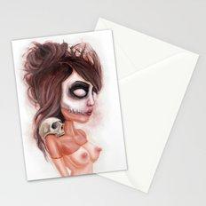 Deathlike Skull Impression Stationery Cards