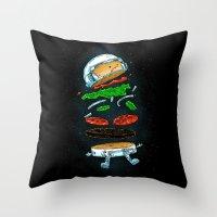 The Astronaut Burger Throw Pillow