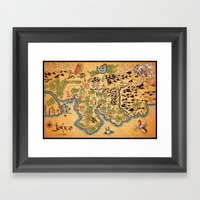 Johto Map Framed Art Print