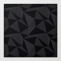 Triangular Black Canvas Print