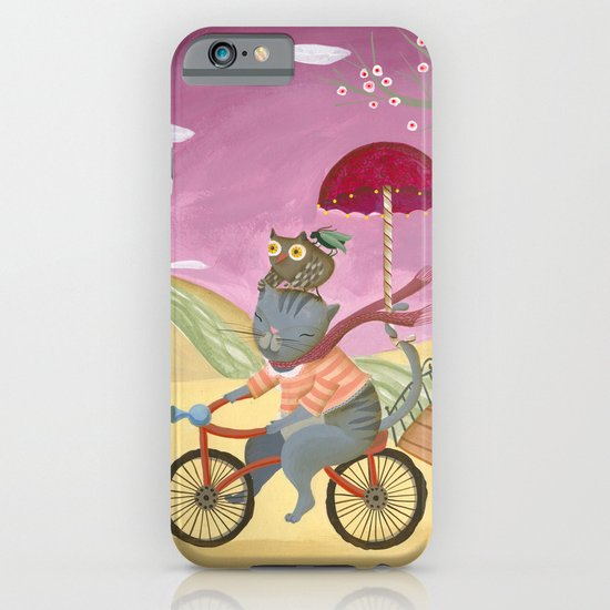 Riding the bike. iPhone & iPod Case
