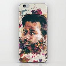 a beard of flowers iPhone & iPod Skin