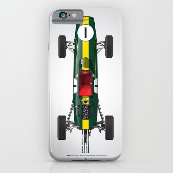 Outline Series N.º1, Jim Clark, Lotus 25-Coventry Climax 1962 iPhone & iPod Case