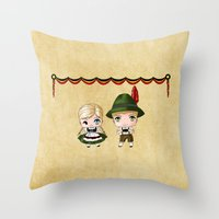 German Chibis Throw Pillow